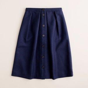 🎈NEW LISTING! J. Crew Double Serge Wool Skirt | 8